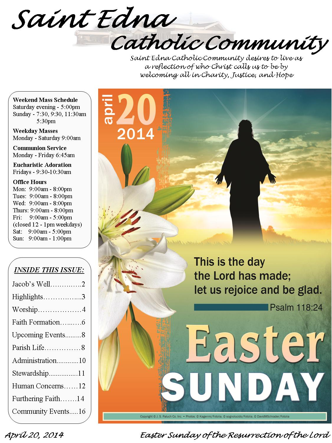 Section 3 New Bulletin Layout – Church Bulletin Template