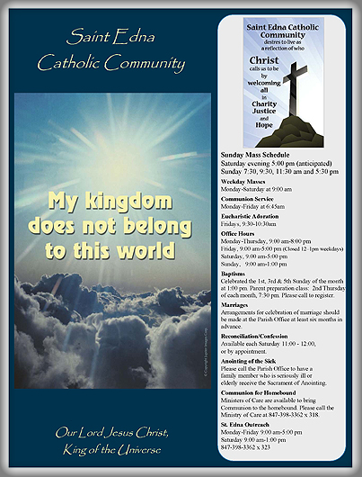 Bulletins st edna catholic church for Free templates for church bulletins