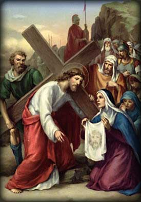 Stations Of The Cross Sixth Station St Edna Catholic